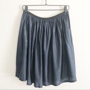 CHARLOTTE RUSSE Navy Metallic Skirt